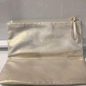 Banana Republic Leather Clutch - Gold & Silver